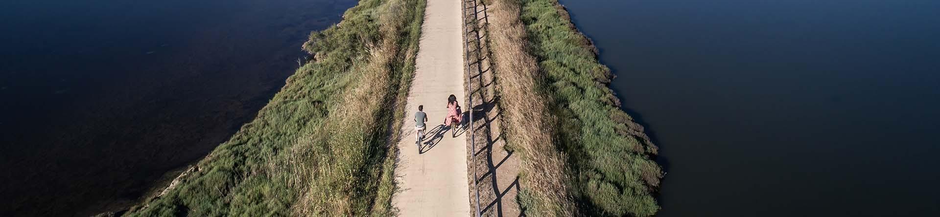Balade en vélo dans l'archipel de Thau