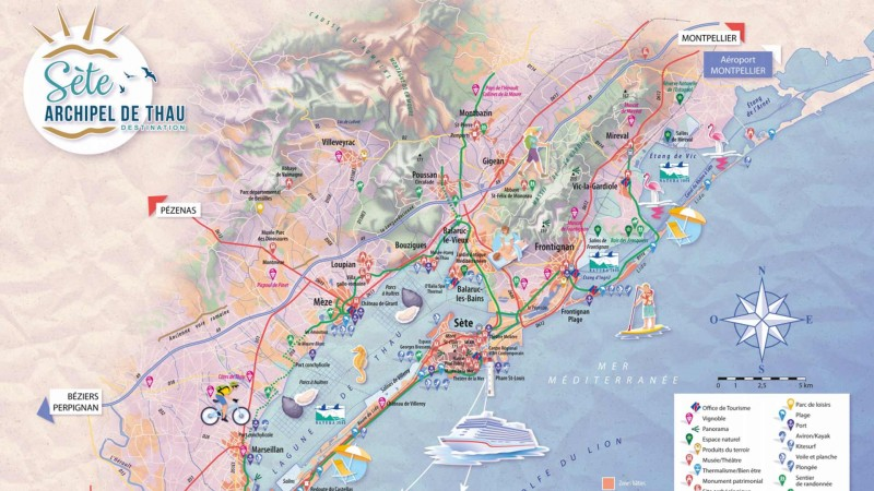 Carte touristique
