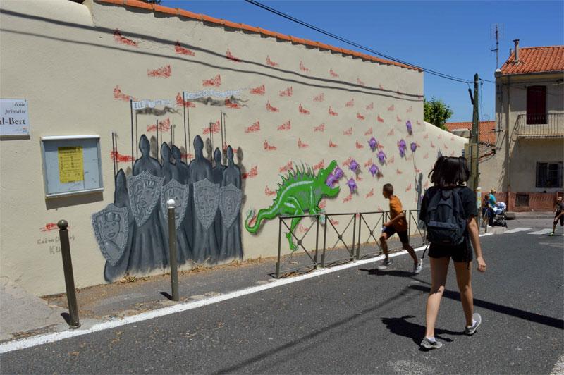 musée ciel ouvert street art urbain fresque Hérault Languedoc Occitanie  Maco codex urbanus art culture