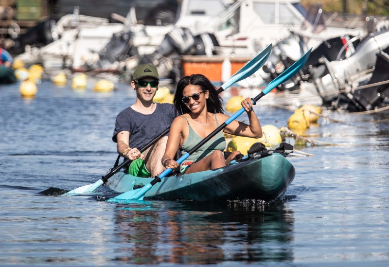 Kayak sur la lagune de Thau