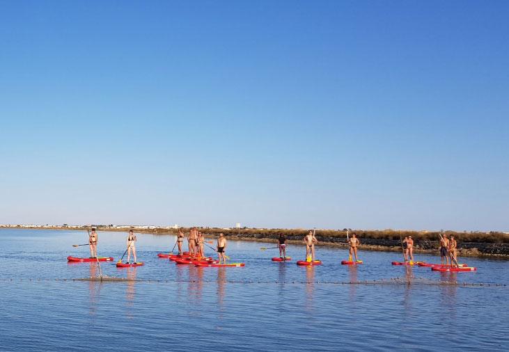 Paddle sur la lagune de Thau