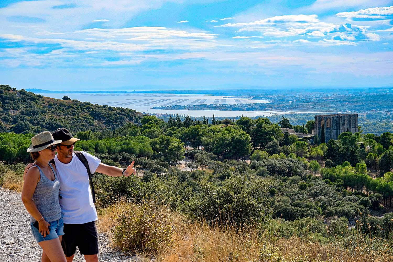 Point de vue sur la lagune depuis la Gardiole - © Karen Prosnier